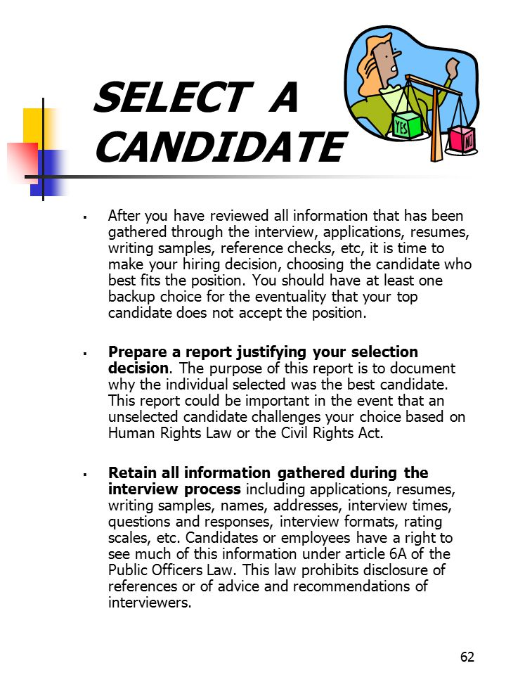 SELECT A CANDIDATE