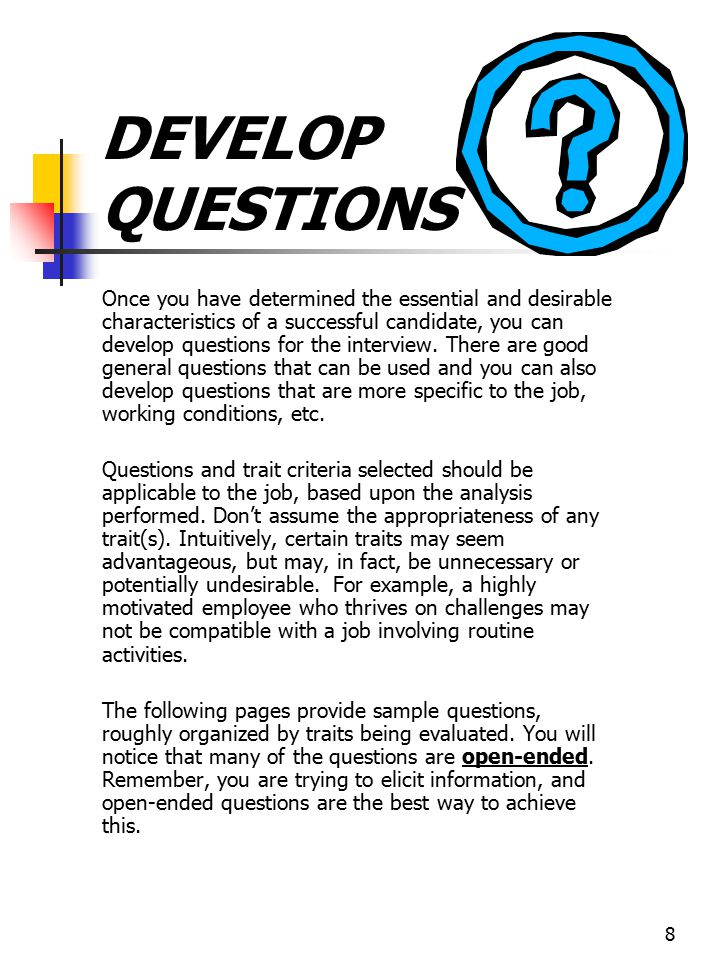 DEVELOP QUESTIONS