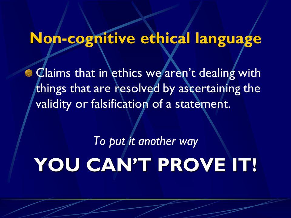 Non-cognitive ethical language