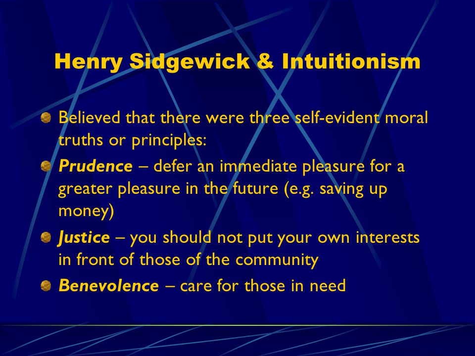 Henry Sidgewick & Intuitionism