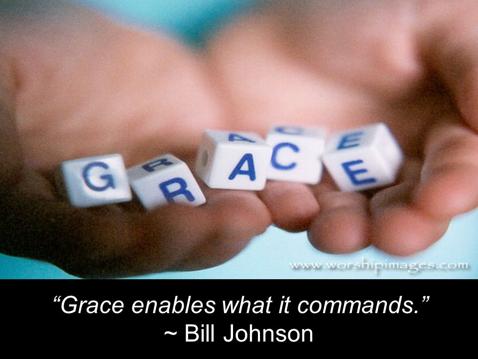 Grace enables what it commands.
