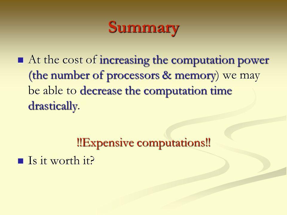 !!Expensive computations!!