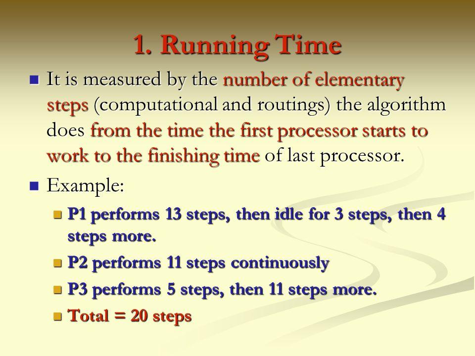 1. Running Time