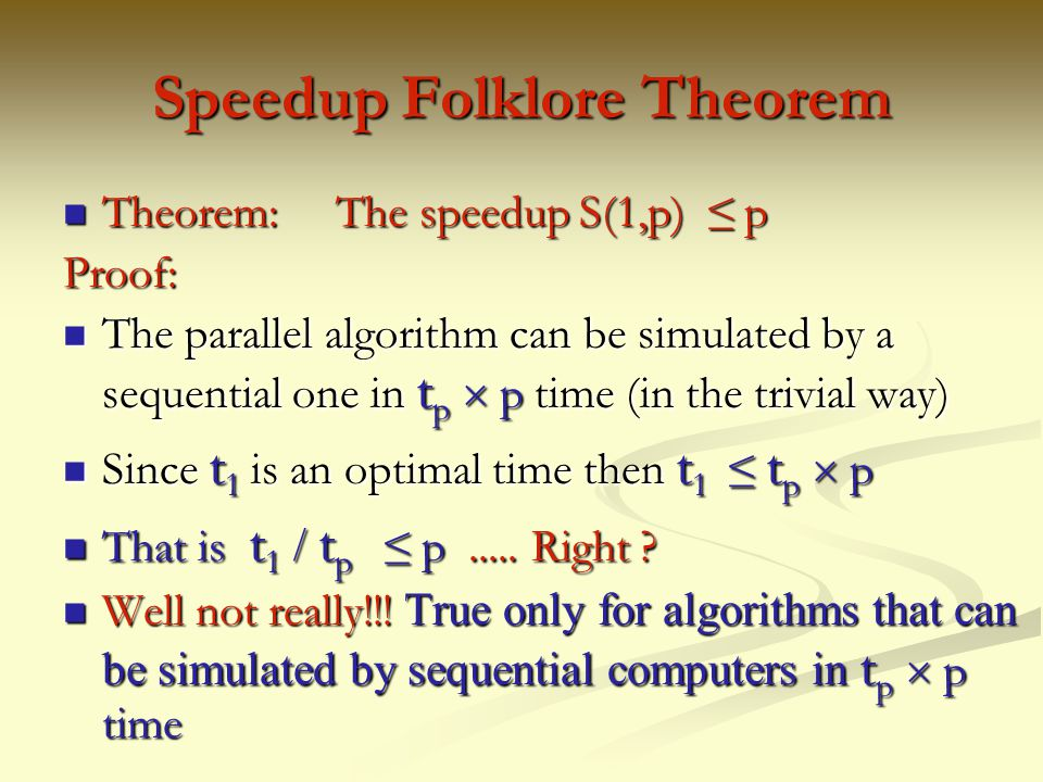 Speedup Folklore Theorem