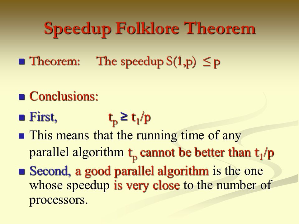 Speedup Folklore Theorem