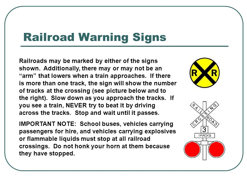 Railroad Warning Signs