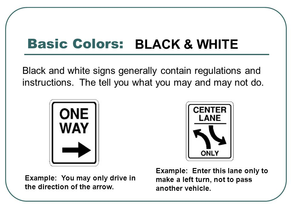 Basic Colors: BLACK & WHITE