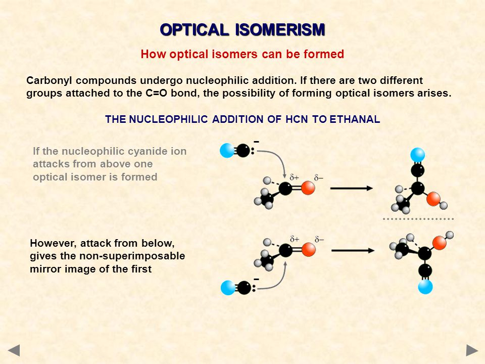 OPTICAL ISOMERISM How optical isomers can be formed