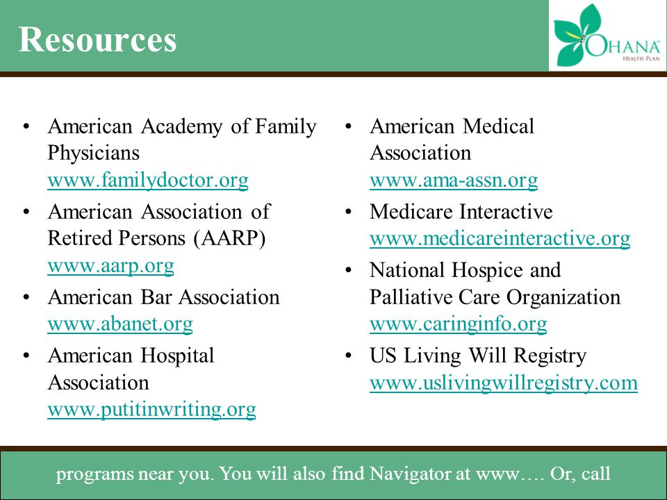 programs near you. You will also find Navigator at www…. Or, call