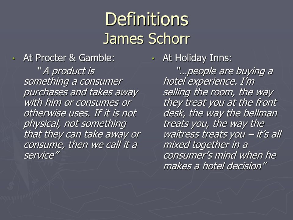 Definitions James Schorr