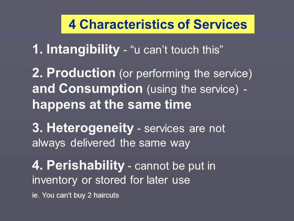 4 Characteristics of Services
