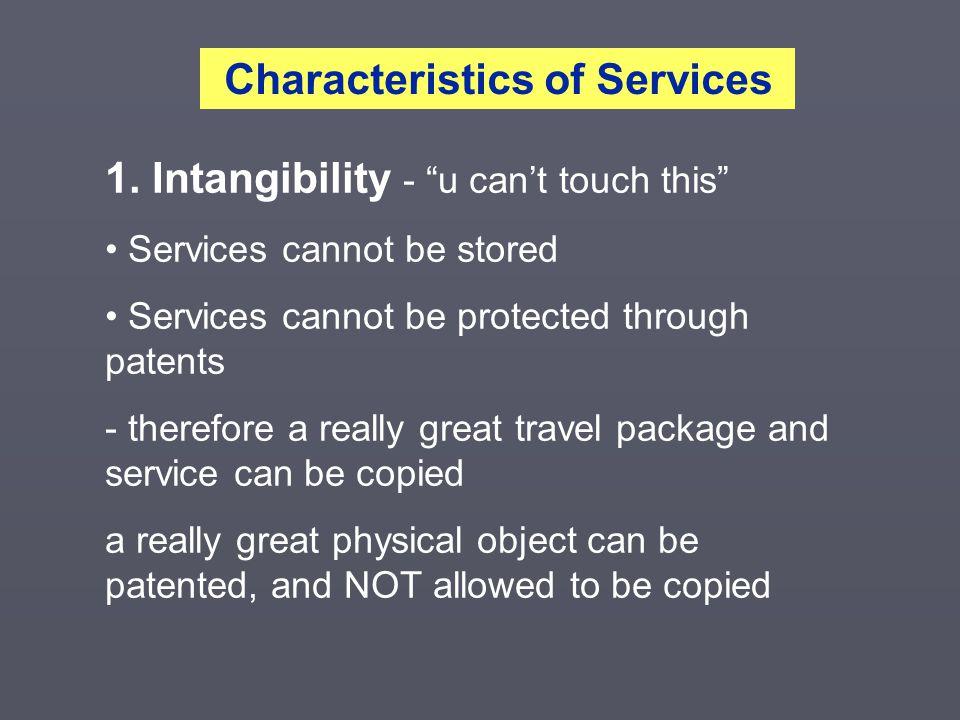 Characteristics of Services