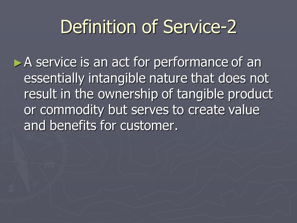 Definition of Service-2