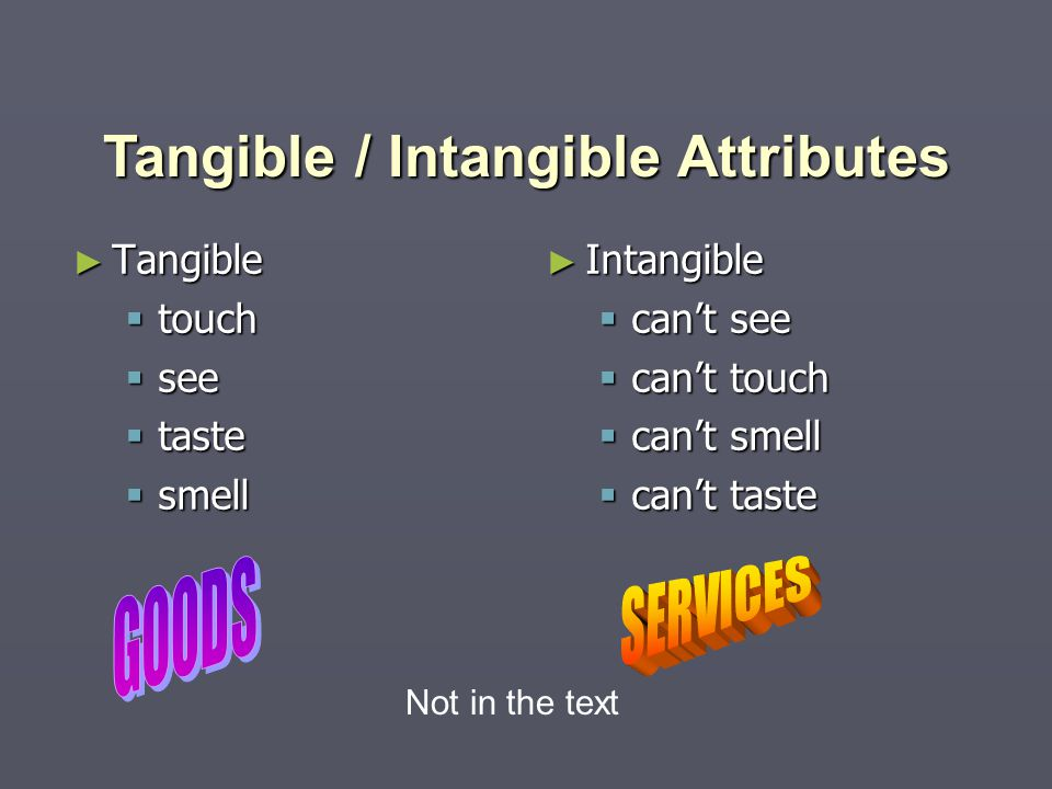 Tangible / Intangible Attributes