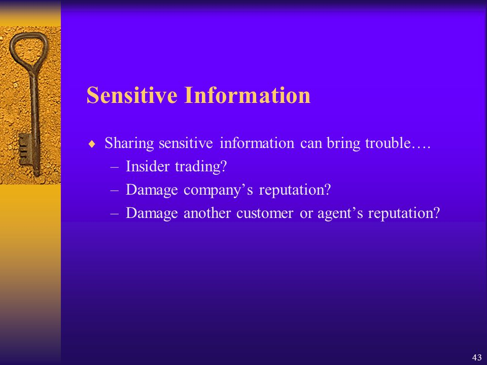 Sensitive Information