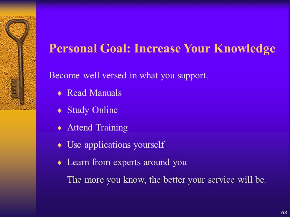 Personal Goal: Increase Your Knowledge