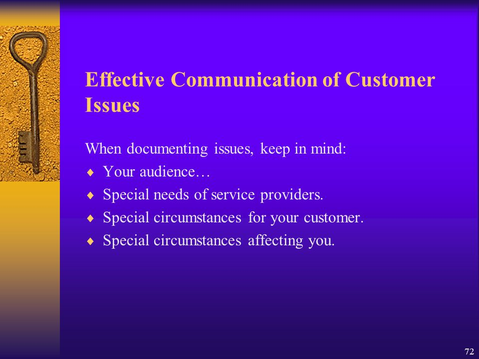 Effective Communication of Customer Issues