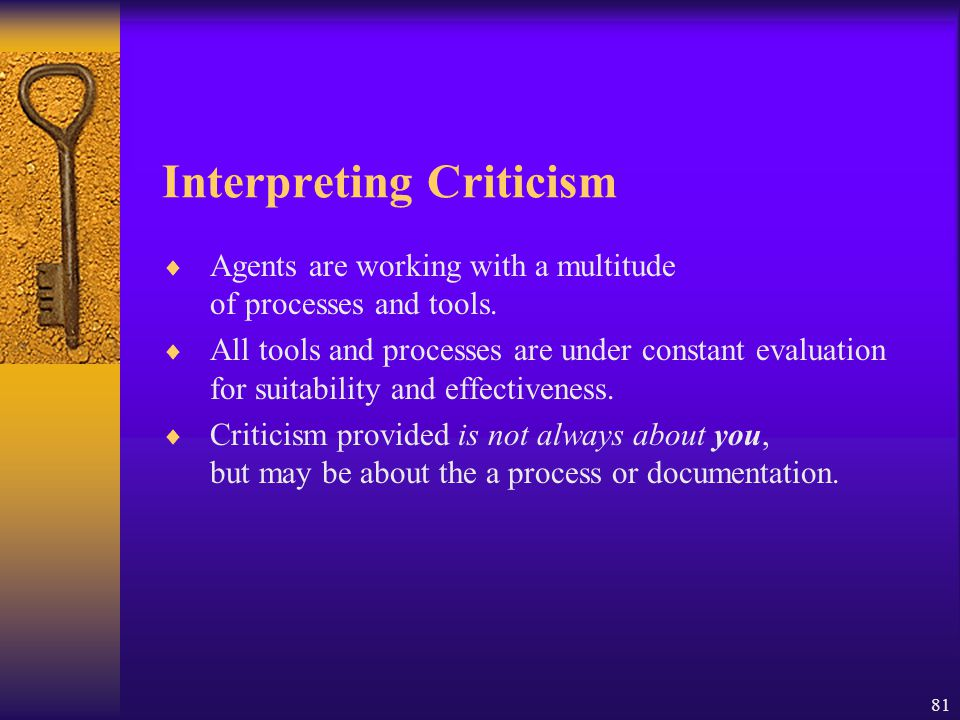 Interpreting Criticism