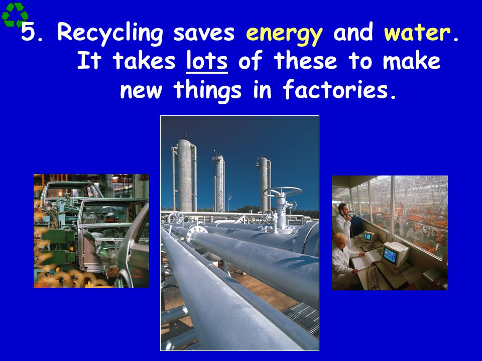 Recycling saves energy and water