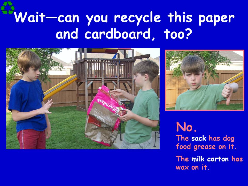 Wait—can you recycle this paper and cardboard, too