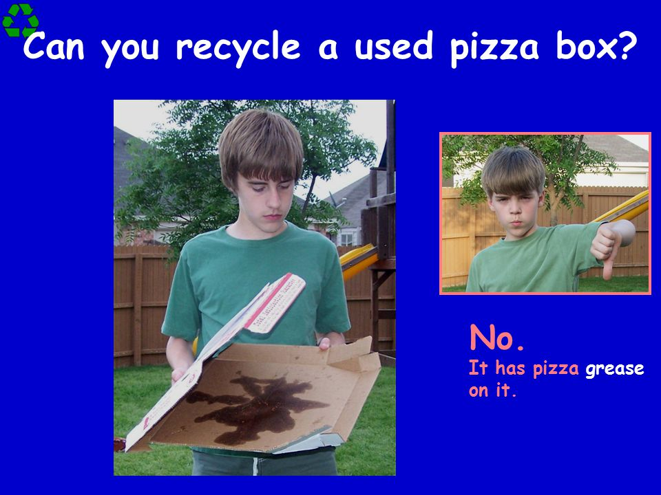 Can you recycle a used pizza box