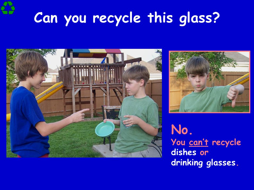 Can you recycle this glass