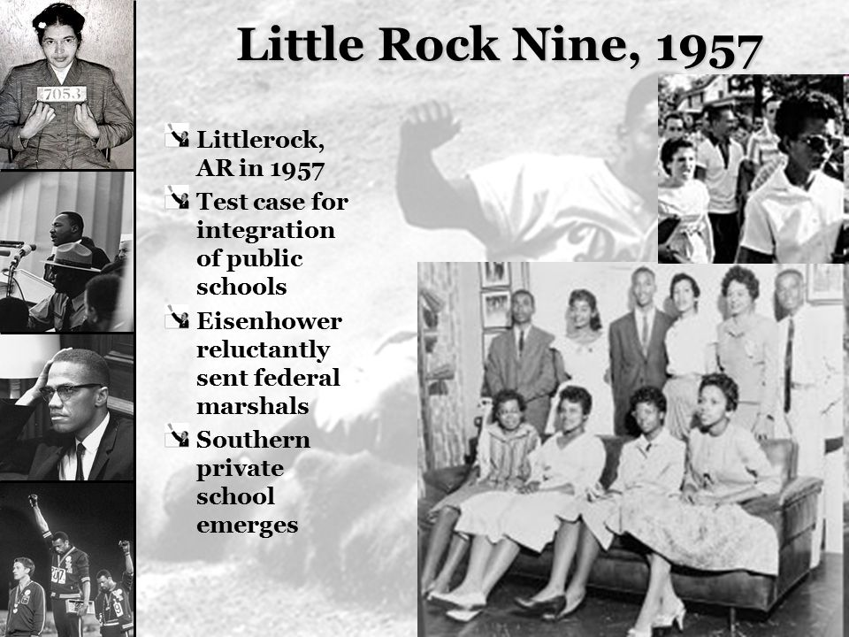 Little Rock Nine, 1957 Littlerock, AR in 1957