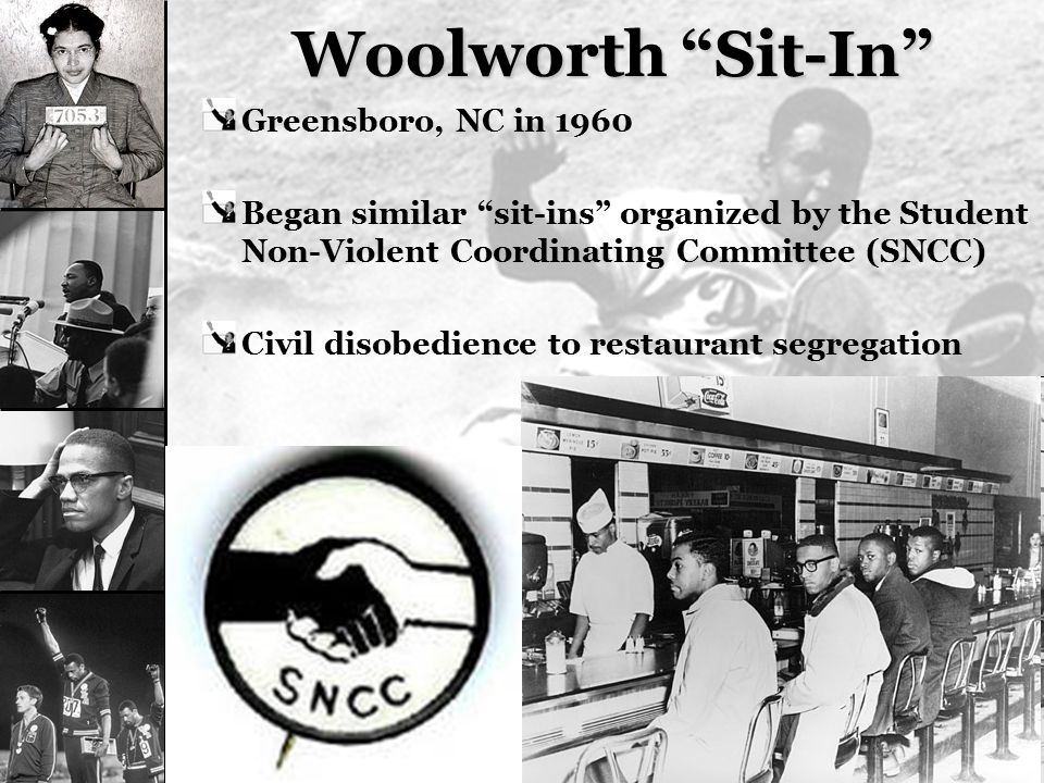 Woolworth Sit-In Greensboro, NC in 1960