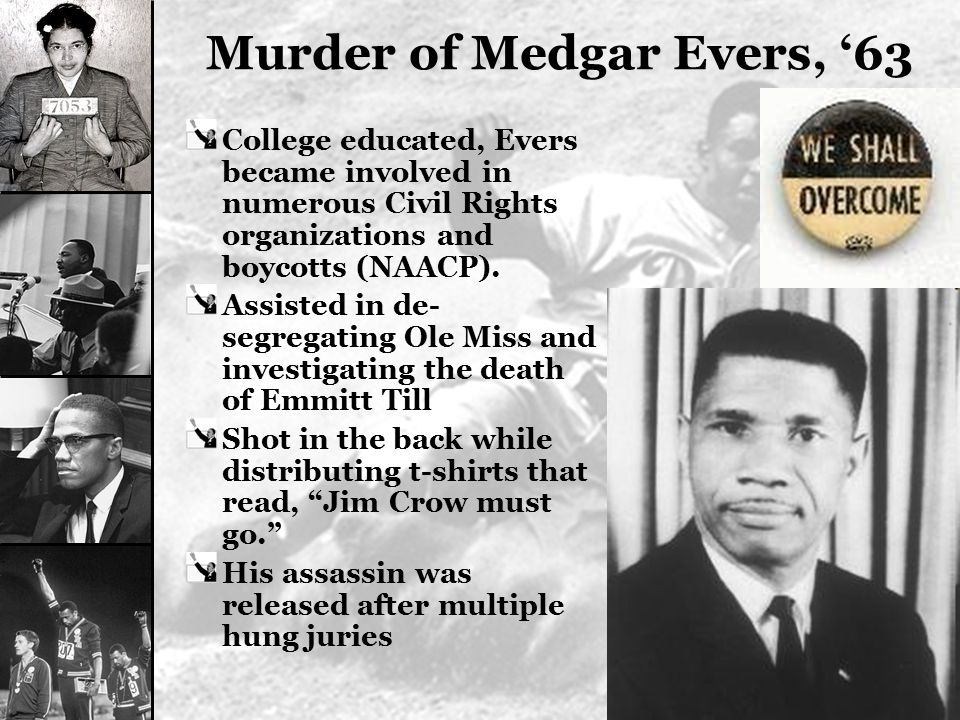 Murder of Medgar Evers, '63