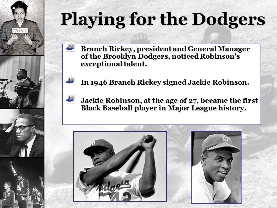 Playing for the Dodgers