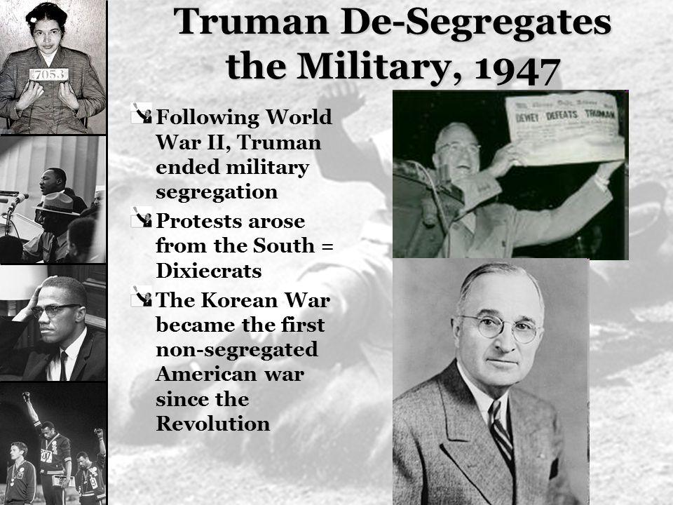 Truman De-Segregates the Military, 1947