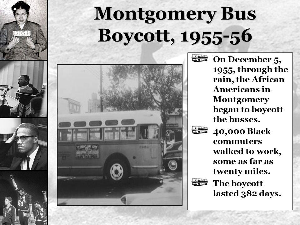 Montgomery Bus Boycott, 1955-56