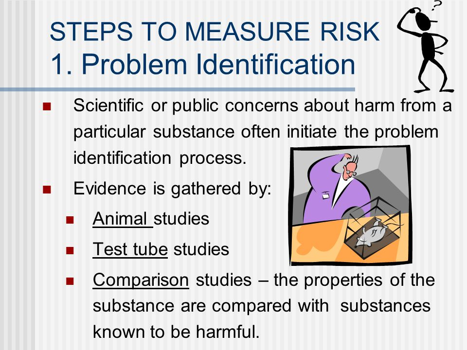 STEPS TO MEASURE RISK 1. Problem Identification