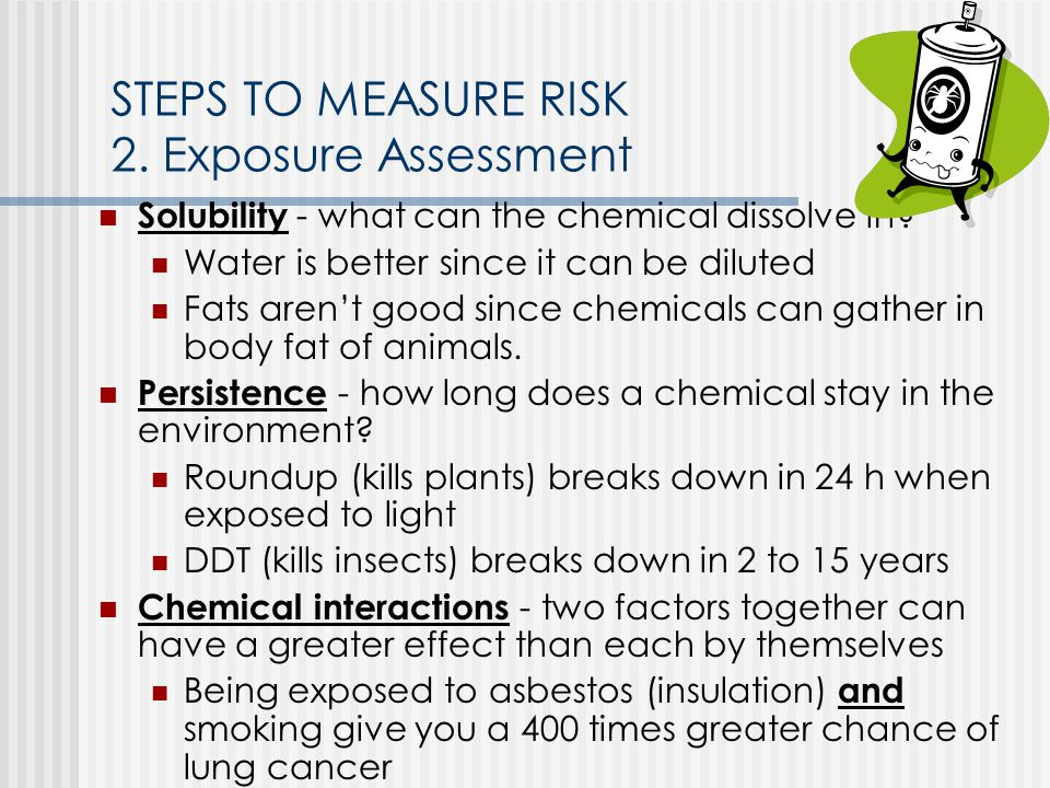 STEPS TO MEASURE RISK 2. Exposure Assessment