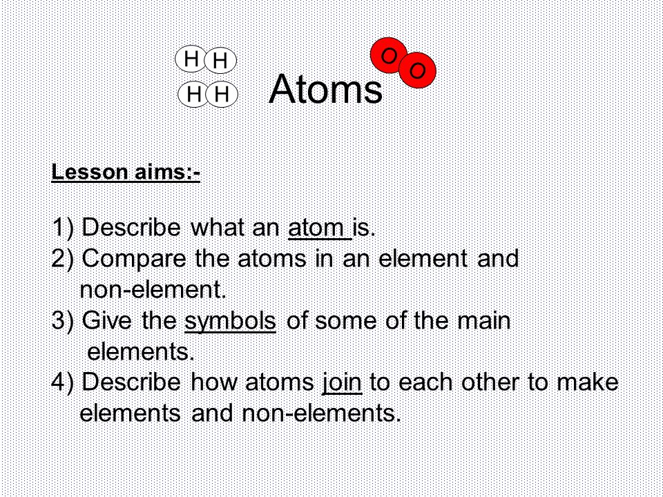 Atoms 1) Describe what an atom is.
