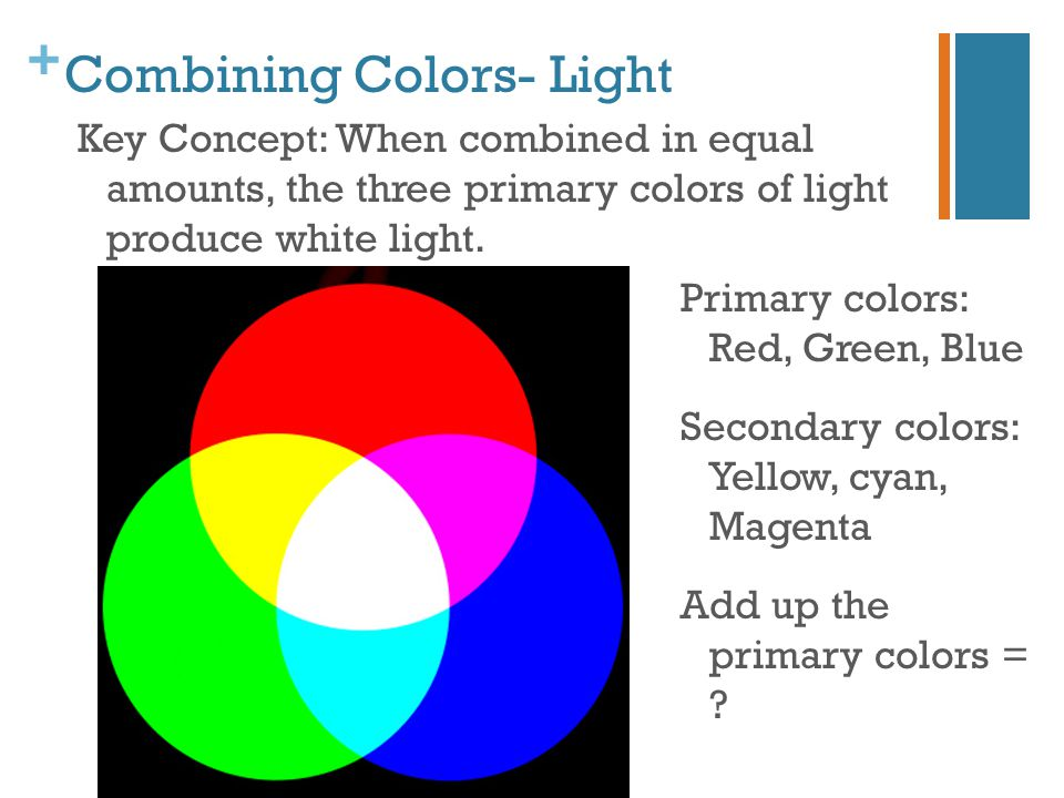 Combining Colors- Light