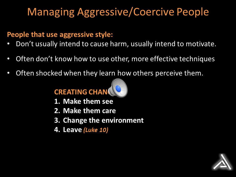 Managing Aggressive/Coercive People