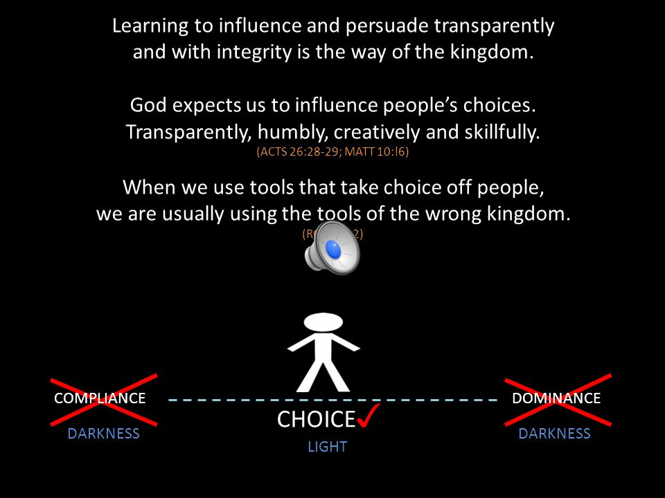 CHOICE✓ Learning to influence and persuade transparently