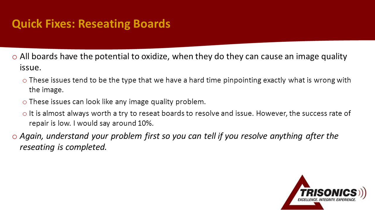 Quick Fixes: Reseating Boards
