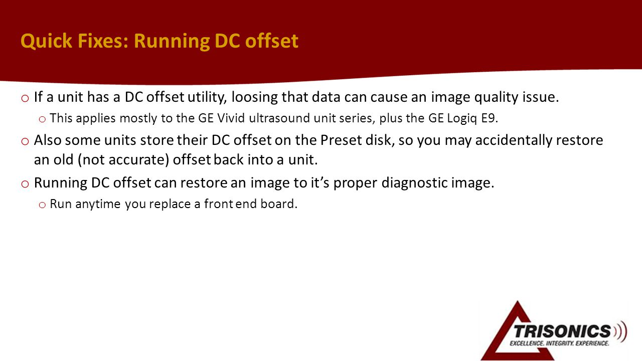 Quick Fixes: Running DC offset