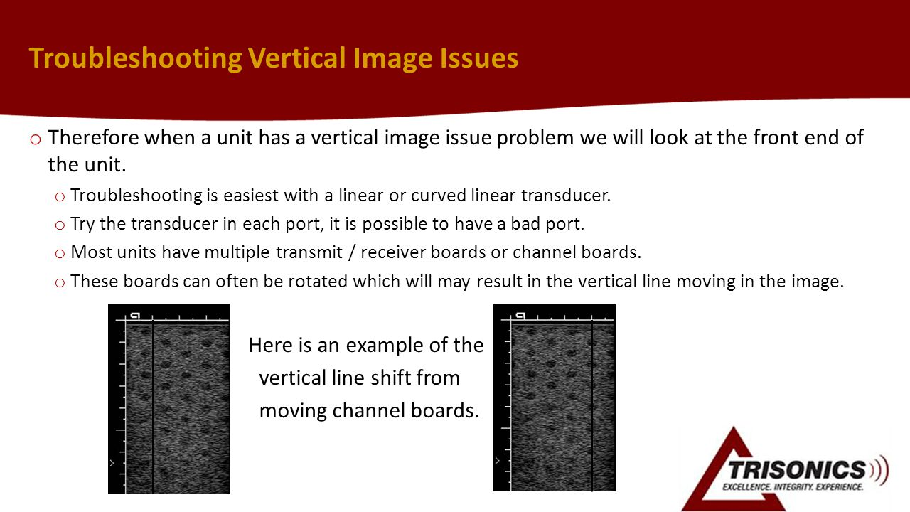 Troubleshooting Vertical Image Issues