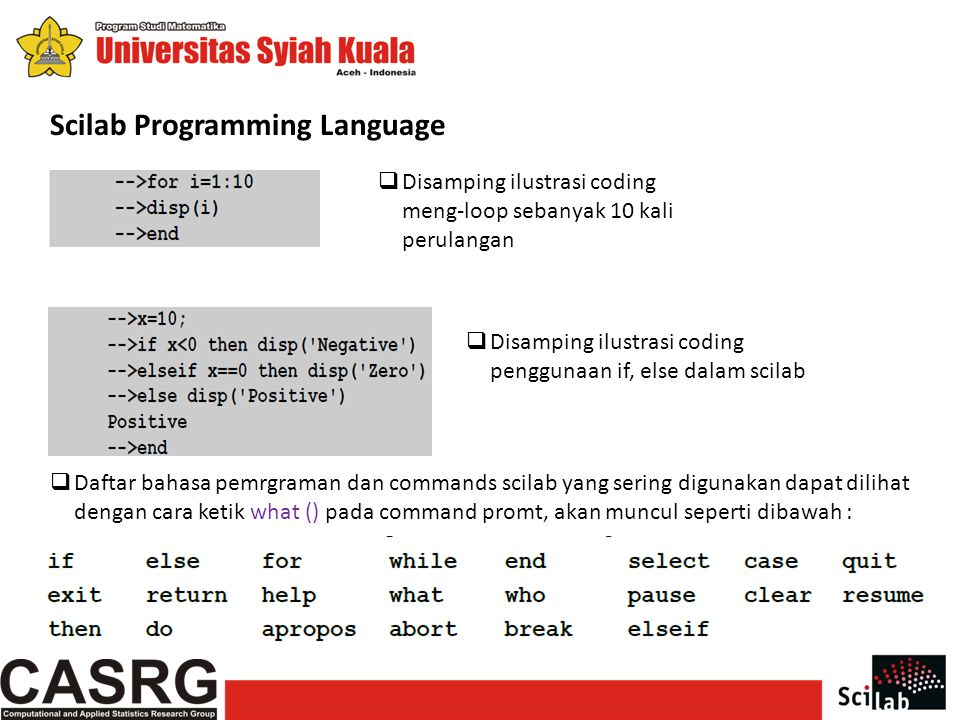 Scilab Programming Language