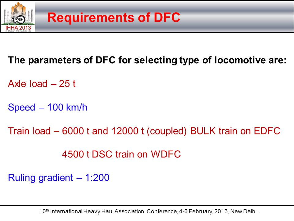 Requirements of DFC