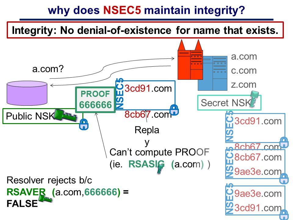 why does NSEC5 maintain integrity