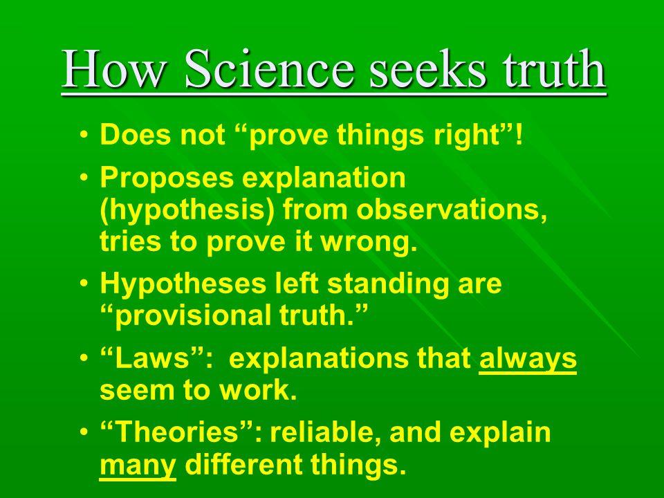 How Science seeks truth
