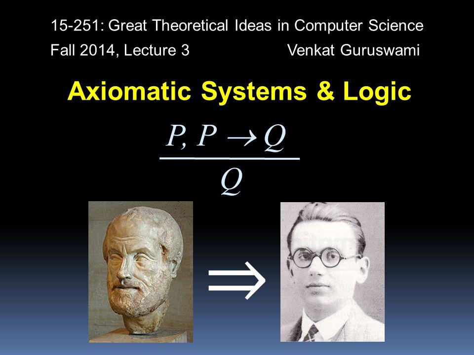 Axiomatic Systems & Logic