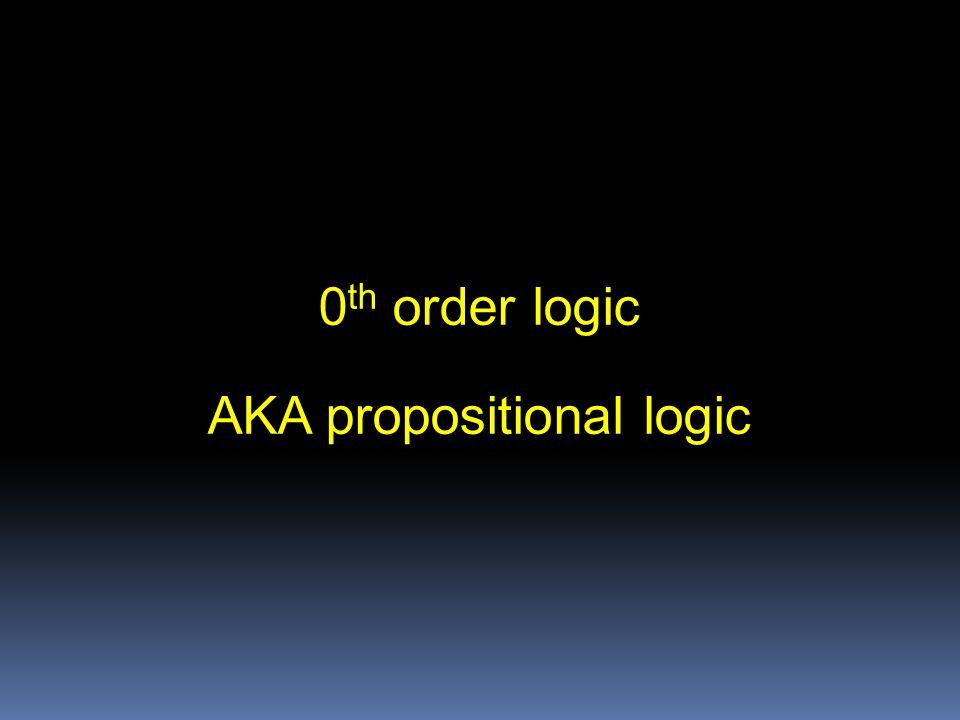 AKA propositional logic
