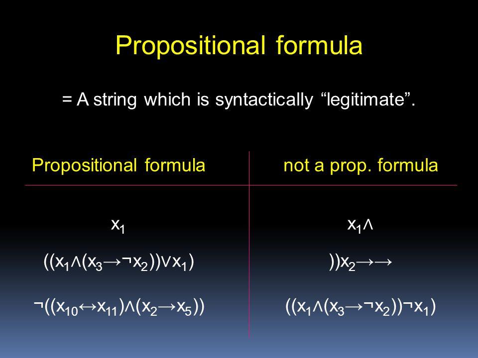 Propositional formula