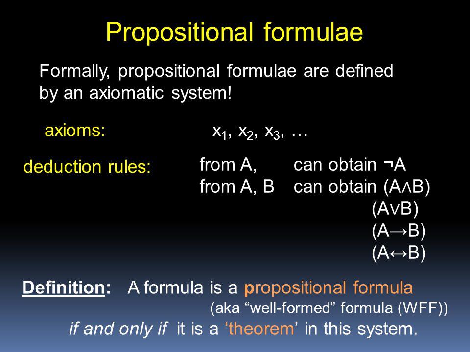 Propositional formulae