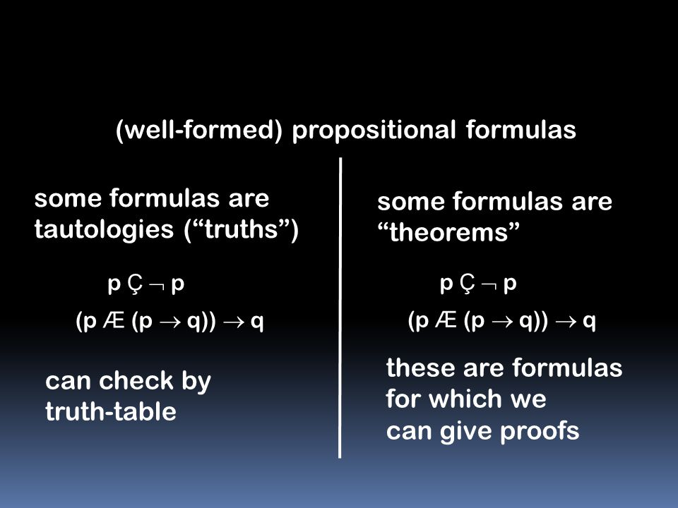 (well-formed) propositional formulas